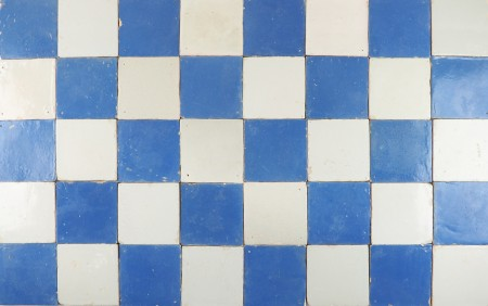 Set of antique Delft wall tiles with full blue and white tiles, 17th century