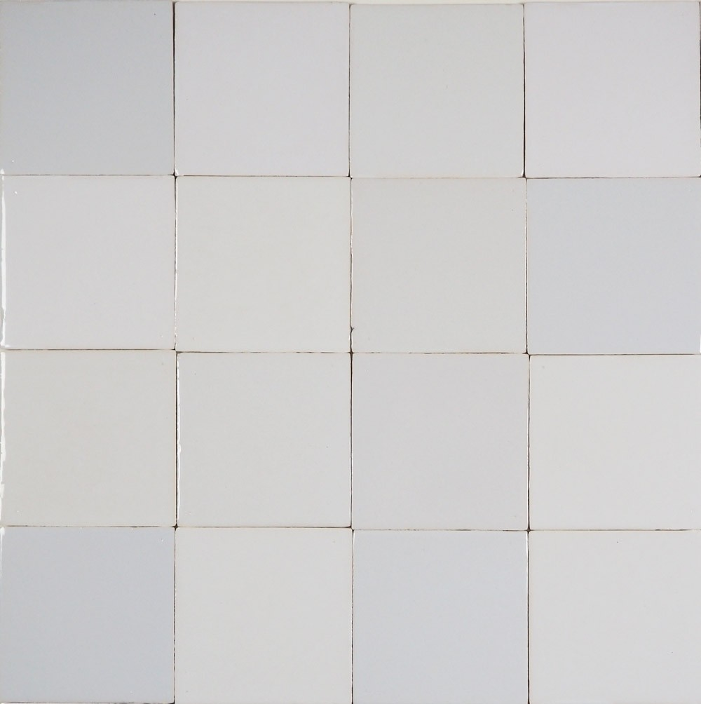 Beautiful mix of plain white Delft tiles with all authentic ...
