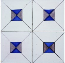 Antique Dutch Delft ornamental wall tiles known as Crystal Stone, 19th and 20th century