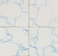 Antique Delft wall tiles with a marble pattern, 19th century