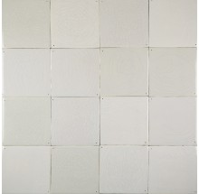 Delft plain white wall tiles - Grey mix