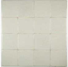 Plain white Delft tiles handmade reproductions - Single shade 17A