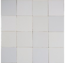 Beautiful mix of plain white Delft tiles with all authentic features - Reproduction