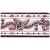 Rose ribbon (border), 19h century