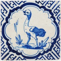 Ostrich with scalloped border, c. 1620