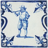Man smoking pipe, c. 1630