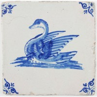 Swan with crown, c. 1640