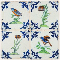SET - Birds & Flowers, c. 1630