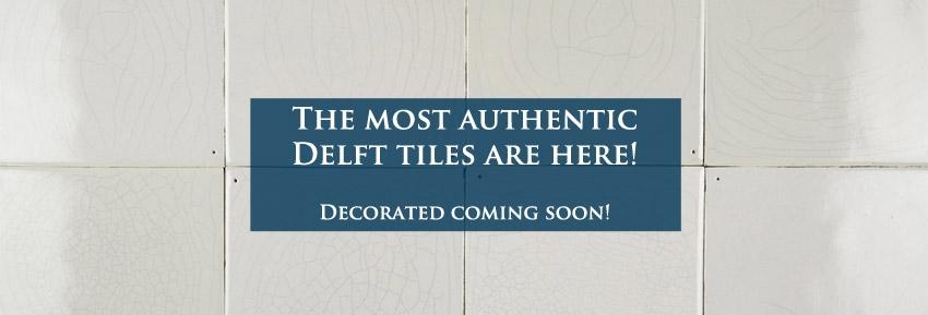 Announcement plain white tiles
