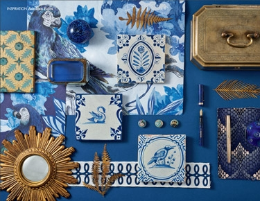 Moodboard 'Homes & Antiques' Delft tiles November 2019 issue